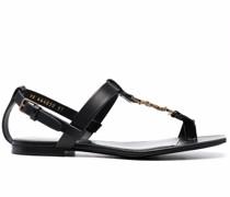 Sandalen mit Logo-Schild