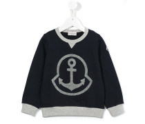 Sweatshirt mit Anker-Print
