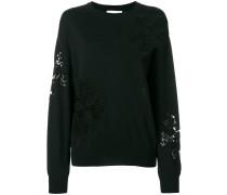 Pullover mit Netzeinsatz