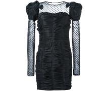 Gerüschtes Kleid mit Tüllbesatz
