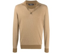 zipped roll neck sweater