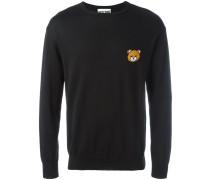 Intarsien-Pullover mit Teddybärenmotiv