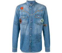 Jeans-Hemd mit Patches - men