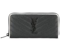 'Monogram' zip around purse