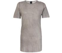 sheer half sleeve T-shirt
