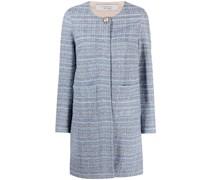 Tweed-Jacke ohne Kragen