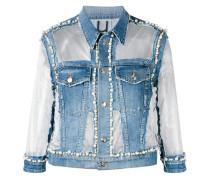 Jeansjacke mit Perlenverzierung - women