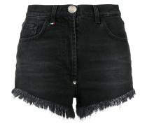 Jeans-Shorts mit Paillettenherz