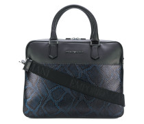 snake effect laptop bag