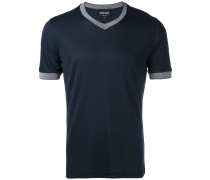 T-Shirt mit kontrastfarbigen Bündchen - men