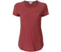 T-Shirt mit abgerundetem Saum