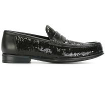 Loafer mit Paillettenverzierung