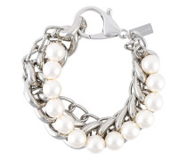 Doppelreihiges Perlen-/Kettenarmband
