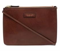 logo-patch leather crossbody bag