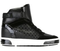 High-Top-Sneakers aus Kalbs-und Kalbswildleder