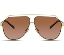 Sechseckige 'Gros grain' Sonnenbrille