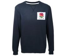 Sweatshirt mit Rosen-Patch