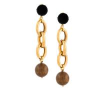 oversized chain clip-on earrings
