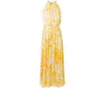 printed halterneck maxi dress