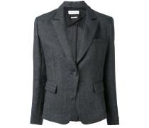 - woven fitted blazer - women