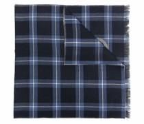 Gancini-print check scarf