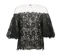 polka dot lace blouse