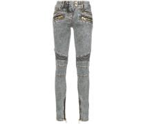 slim biker jeans