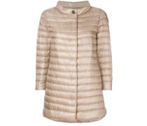 padded ring neck coat