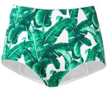 Bikinihöschen mit Bananenblatt-Print
