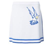 Intarsia hummingbird tennis knit skirt