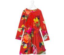 Bedrucktes Kleid mit elastischer Taille