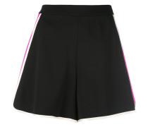 high waist track shorts - women