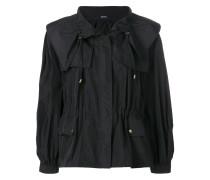 oversize drawstring waist jacket