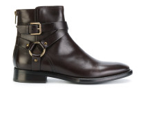 buckle detailed ankle boots