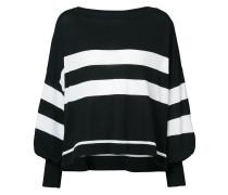 striped high low hem sweater