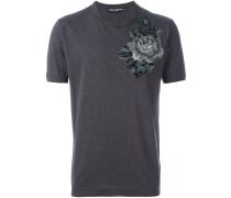 T-Shirt mit Rosenstickerei