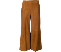 cropped trousers with flare