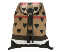 house check medium backpack