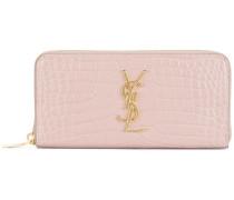 Monogram zip around wallet