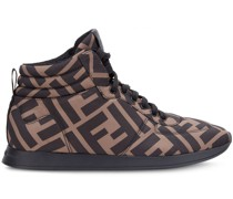 High-Top-Sneakers mit Monogramm