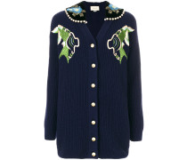 fishes embroidery cardigan