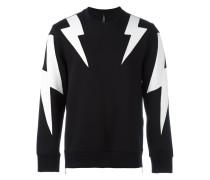 Sweatshirt mit Blitz-Patches