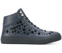 'Argyle' High-Top-Sneakers mit Sternapplikation