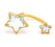 Ring aus 22kt Gold mit zwei Aquamarin-Sternen