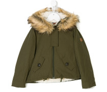 padded faux fur lined coat
