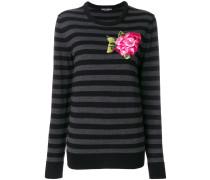 Pullover mit Blumen-Applikation