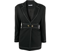 contrast-stitched jacket