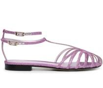 Sandalen im Glitter-Look