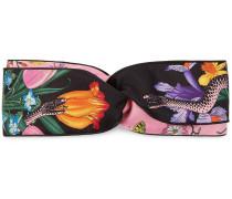 Kopfband mit Blumen und SchlangenPrint