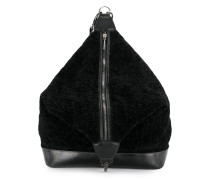 furry zipped backpack